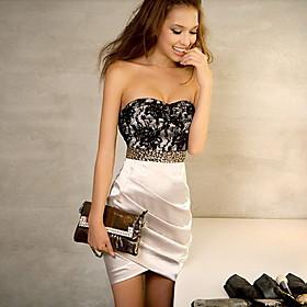 Women's Lace Bodycon Bandeau Dress