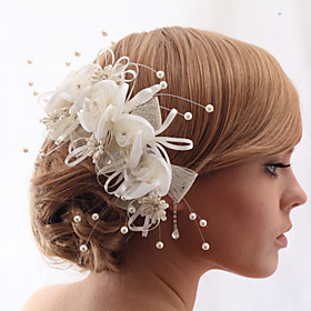Headpieces Beautiful Crystal Yarn With Imitation Pearls Wedding/Bride Headdress Flower