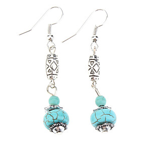 Lantern Shape Turquoise Earrings