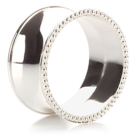 Set of 4 Modern Luxury Zinc Alloy Napkin Ring