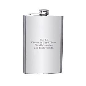 Stainless Steel Hip Flasks Groom / Groomsman Wedding / Anniversary / Birthday