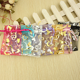Creative Organza Favor Holder with Ribbons Pattern Favor Bags - 12