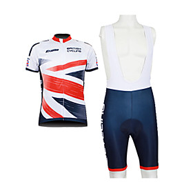 Kooplus 2013 British Pattern 100% Polyester Short Sleeve Quick Dry Mens BIB Short Cycling Suits
