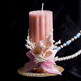 Colorful Candle With Flowers Coral Wedding Wedding Ceremony Beautiful