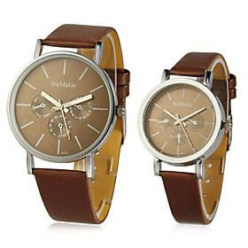 Pu Runde Quartz Movement Couples 'watch (flere Farver)
