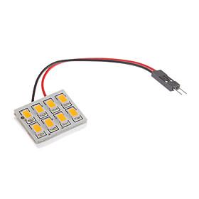 T10/BA9S/Festoon 8x5730SMD 1.5W теплый белый свет Светодиодные лампы для автомо