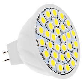 4W GU5.3(MR16) LED Spotlight MR16 30 SMD 5050 420 lm Natural White 6000 K DC 12 V 499156