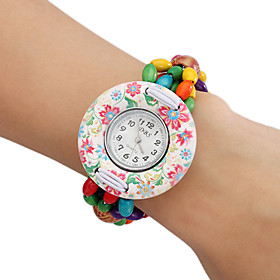 Frauen Holz Analog Quarz Armband Uhr (Multi-Colored)