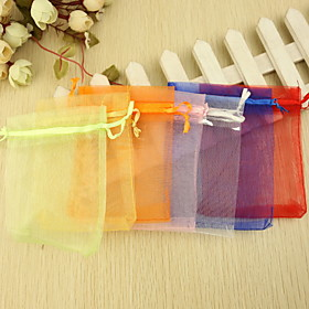 Round Square Creative Organza Favor Holder with Printing Favor Boxes Favor Bags - 24