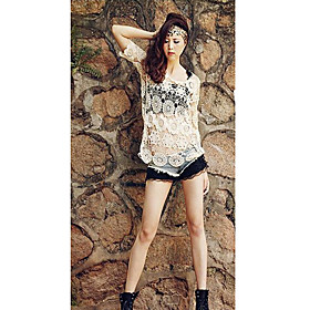 Women's Sexy Lace Embroidery Crochet Cutwork Outwear