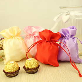 Satin Favor Holder with Pattern Favor Bags - 24