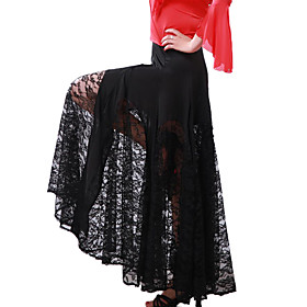 Ballroom Dance Skirts Women's Training Tulle / Viscose Natural plus size,  plus size fashion plus size appare