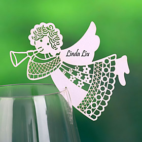 "Place Cards and Holders """"Angel"""" Place Card For Wine Glass Card (Set of 12)"" 623627"