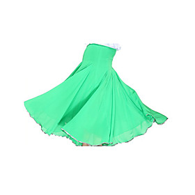 Ballroom Dance Skirts Women's Training Chiffon / Satin Natural plus size,  plus size fashion plus size appare