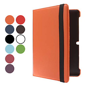 10.1 Inch 360 Rotatable Solid Color Litchi Pattern Case with Stylus and Screen Protector