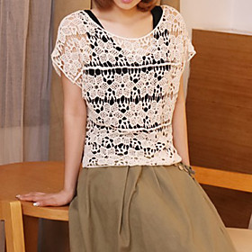 Women's Vintage Lace Crochet Cutwork Crochet Top