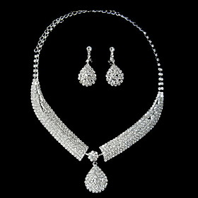 Fantastisk Clear Crystal Wedding Bridal Jewelry Set (Inkludert halskjede, ?repynt)