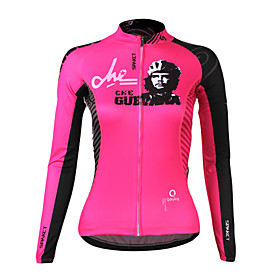 100% Polyester manches longues Solaires Cycling Jersey Spakct S13C16W High Tech femmes (rose)