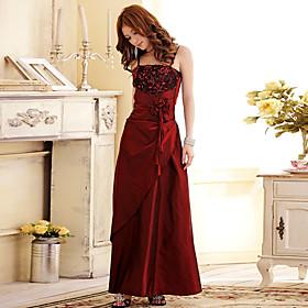 Women's Plus Size Elegant Strap 3D Flowers Maxi Evening Dress