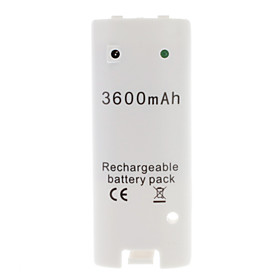 Rechargeable Battery (3600mAh) for Wii/Wii U Remote Controller
