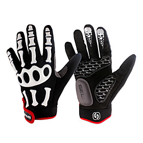 SPAKCT Fashion Designed Breathable Velcro Full-Finger Gloves-Skeleton