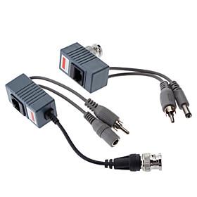 balun video / audio / potencia con la hembra dc / macho y 2 RCA 0.1m