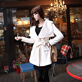 Women's Elegant Lapel Coat With Belt