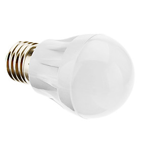 E27 3W 220-250LM 3000-3500K Warm White Light LED Ball Bulb (220-240V)