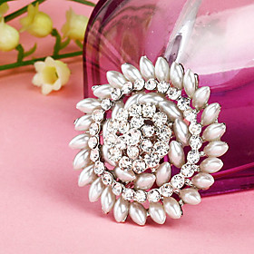 Full Pearl Sunflower Flower Brooch
