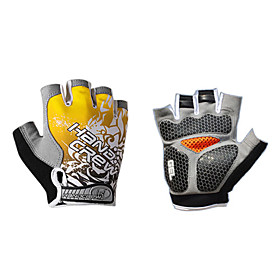 Half-Finger Lycra and Gel Shockproof Cycling Gloves