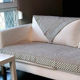 cotone grigio lino orlo divano cuscino 70  180