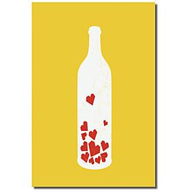 Strakt L?rred Kunst Still Life Message In A Bottle Af Budi Satria Kwan