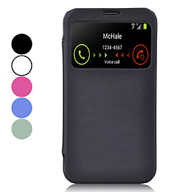 High End Beskyttende Pu Leather Case Med Synlige Sk?rm Til Samsung Galaxy Mega 6,3 I9200 (assorterede Farver)