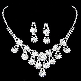 Amazing legering med Clear Rhinestone Wedding Bridal Jewelry Set (Inkludert halskjede, ?redobber)