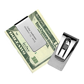 Stainless Steel Money Clips Wedding Anniversary Birthday Business