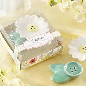 Blossom Ceramic Salt Pepper Shakers