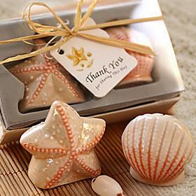 Seashell Starfish Salt og Pepper Shakers