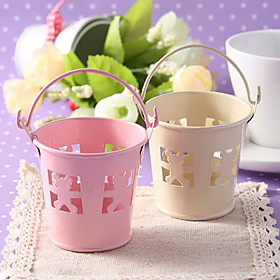 Metal Favor Pail With Bear Cut-outs - Set of 6 (More Colors)