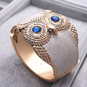 MaDou Princess Women's Vintage Owl Broadside Bracelet (Gold)