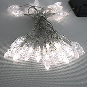 30Led White Outdoor Led Solar Fairy Lights Christmas Decor Lamp Gifts(Cis-57109)