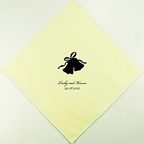Personalized Wedding Napkins Bells(More Colors)-Set of 100