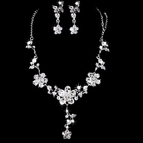 Jewelry Set Women's Anniversary / Wedding / Engagement / Birthday / Gift / Party / Special Occasion Jewelry Sets AlloyRhinestone / Cubic 760883