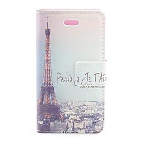 Retro Paris Eiffelt?rnet Design Pu Beskyttende Case Med Kortplads Til Iphone 4/4s