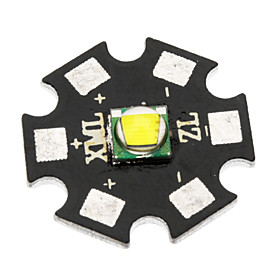 20mm CREE XM-L2 U2 960lm Cool White Bulb Board for Flashlight - Black  Grey