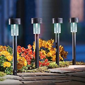 8 pcs, Led jardin, pelouse, ?airage / jardin lampe solaire solaire en plastique, lumineuse LED (CIS-57136)