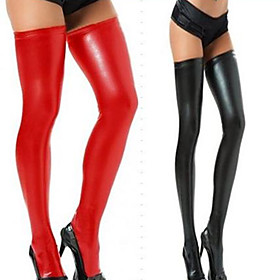 Close-fitting PU Leather Stockings