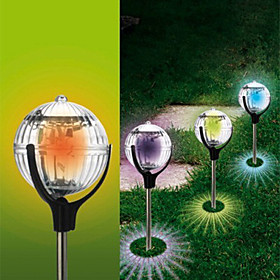 Outdoor Solar Color Changing Led Floating Lights Ball Pond Path Lawn Stake Lamp(Cis-57179)