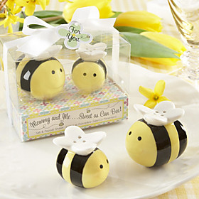 Mommy And Me Sweet As Can Bee Ceramic Honeybee Salt And Pepper Shakers image