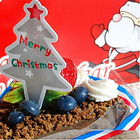 Christmas Tree Cake Topper - Set Of 10