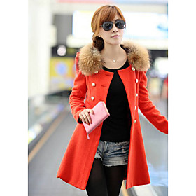 Women's Korean Sheath Tweed Coat